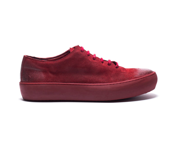 the last conspiracy ADAMO waxed suede High Top 048 Oxblood