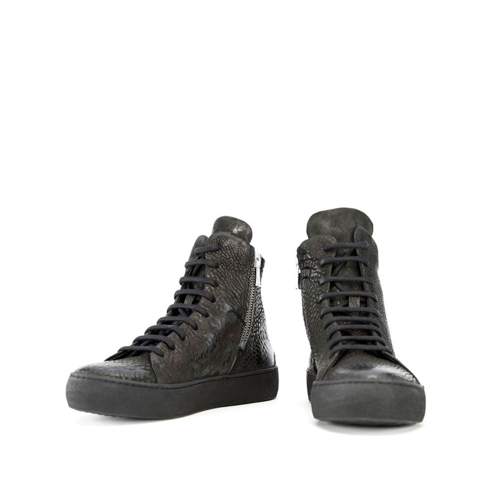 the last conspiracy x Isaac Sellam ALNO reversed High Top Sneaker 001 Black