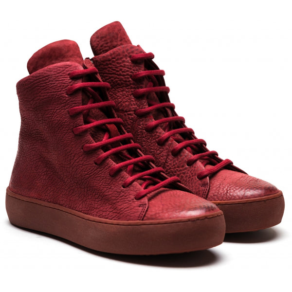 the last conspiracy x Isaac Sellam ALNO reversed High Top Sneaker 048 Oxblood