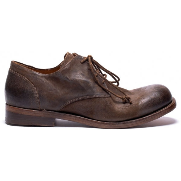 the last conspiracy AMADEO waxed suede Laced Shoe 010 Tobacco