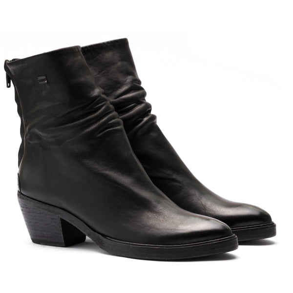 the last conspiracy ANGELA steer Zip Boot 001 Black