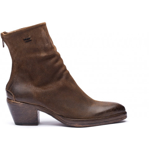 the last conspiracy ANGELA waxed suede Zip Boot 079 Dark Tobacco
