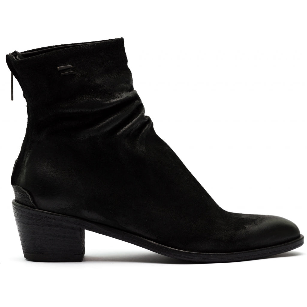 the last conspiracy ANGELA waxed suede Zip Boot 001 Black
