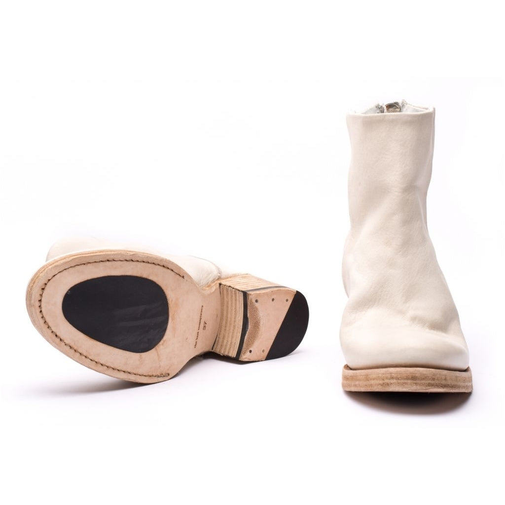 the last conspiracy ASLAUG re waxed Heel Boot 036 White