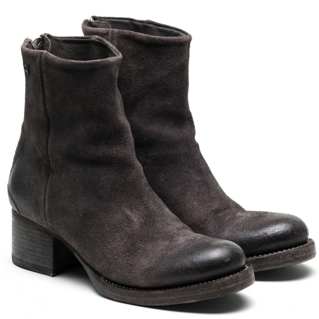 the last conspiracy ASLAUG waxed suede Zip Boot 080 Mouse