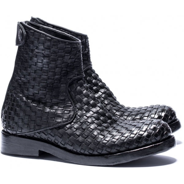 the last conspiracy AUDLEY interlace Zip Boot 001 Black