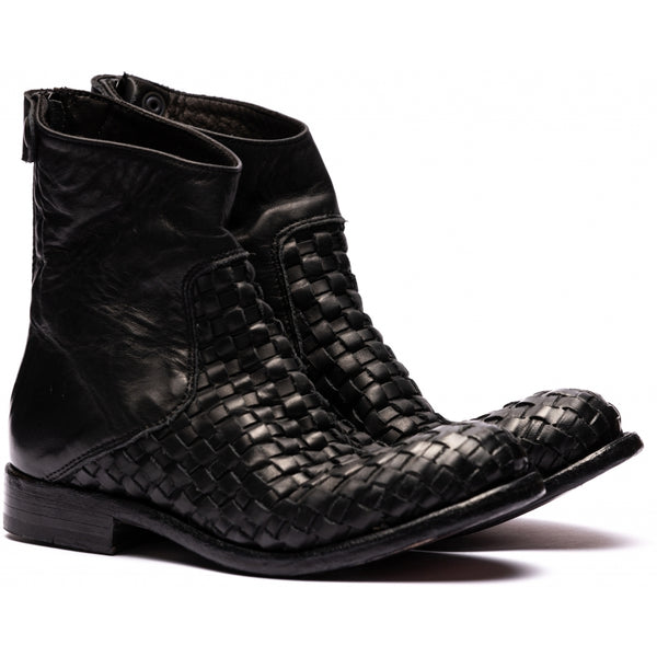 the last conspiracy AUDLEY interlace ap Chelsea Boot 001 Black