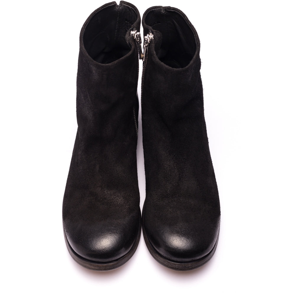 the last conspiracy BEARY waxed suede Zip Boot 001 Black
