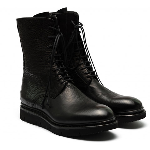 the last conspiracy BIRGER re waxed Laced Boot 001 Black