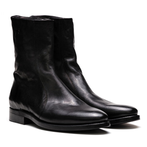 the last conspiracy BLAIR re waxed Zip Boot 001 Black