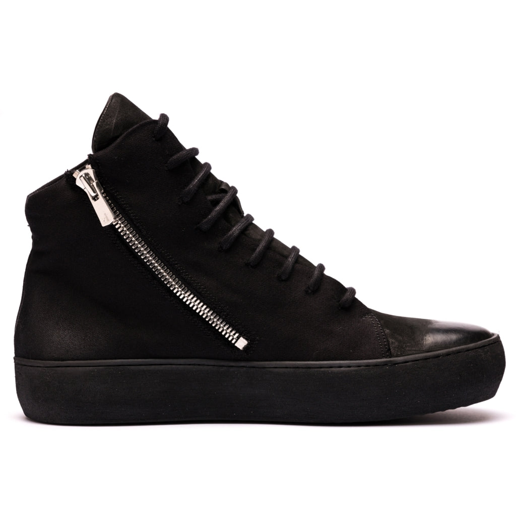 Hannes Roether x the last conspiracy BOUNCE High Top Sneaker 001 Black