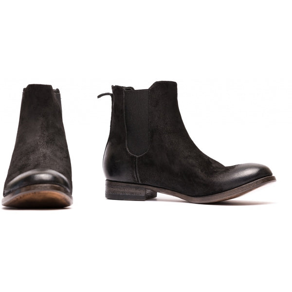 the last conspiracy COMA waxed suede Chelsea Boot 001 Black