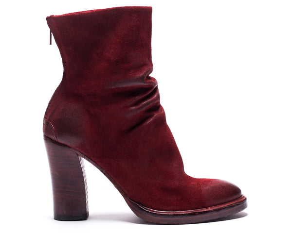 the last conspiracy DAMIA waxed suede Uncontructed 048 Oxblood