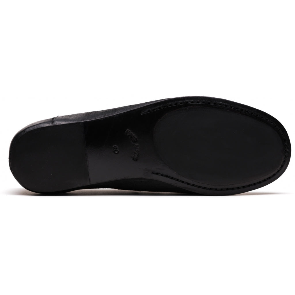 the last conspiracy DERRICK waxed suede Sandal 001 Black