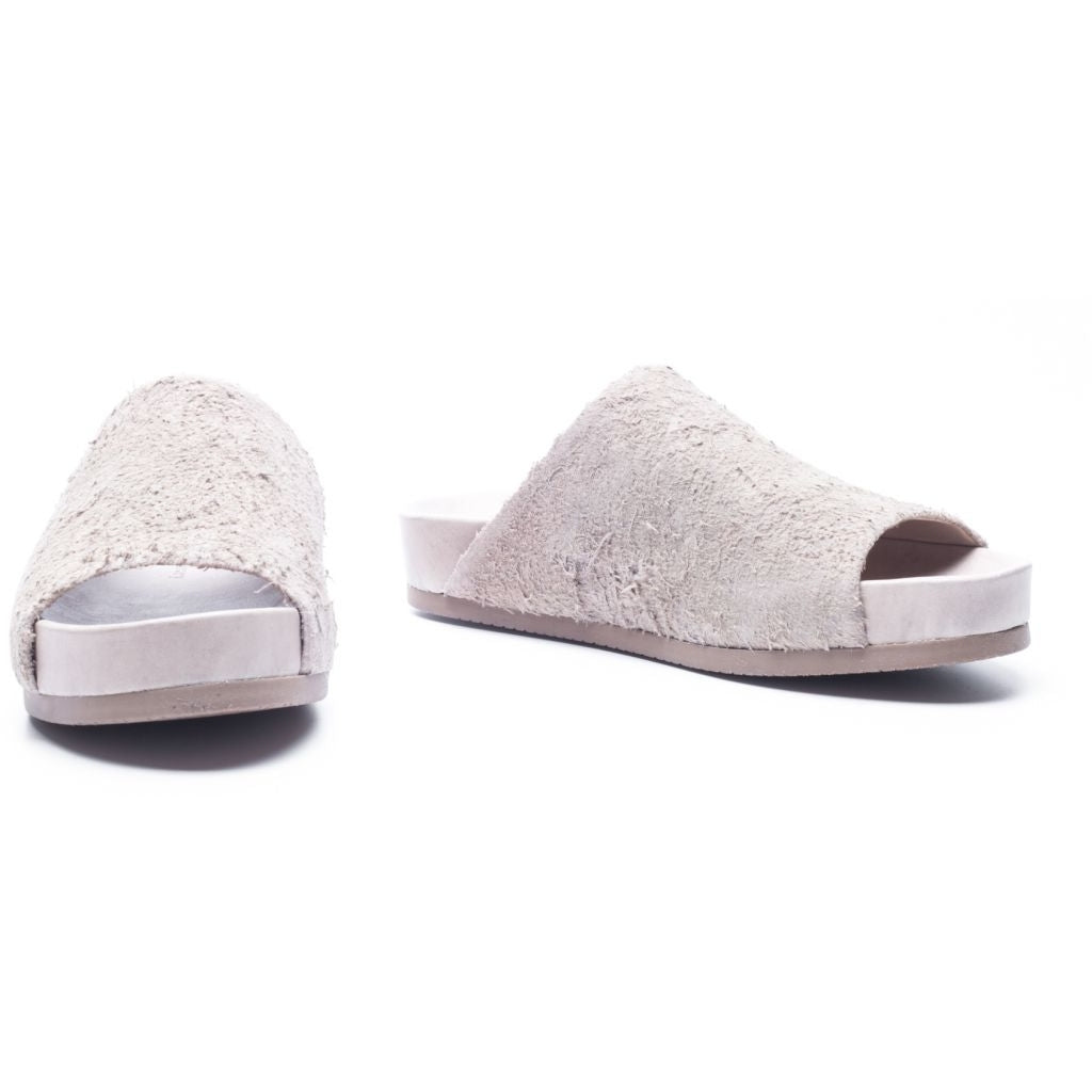 the last conspiracy DILAN long haired suede Sandal 050 Bone