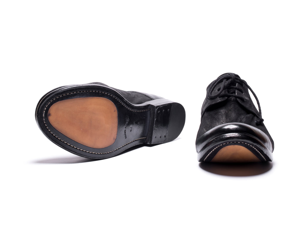 the last conspiracy EDUARDO mat Laced Shoe 001 Black