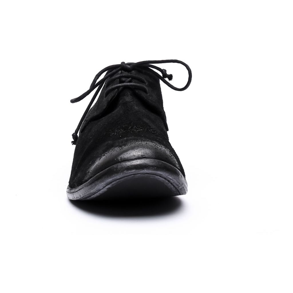 the last conspiracy EDUARDO waxed suede Laced Shoe 001 Black