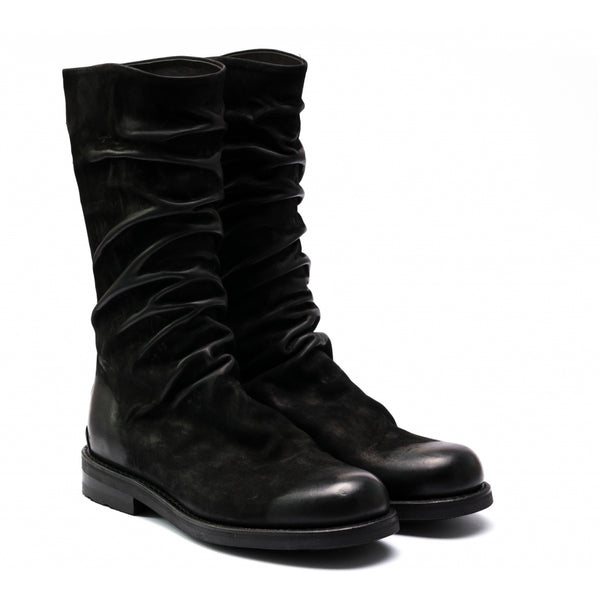 the last conspiracy ESKE waxed suede Zip Boot 001 Black