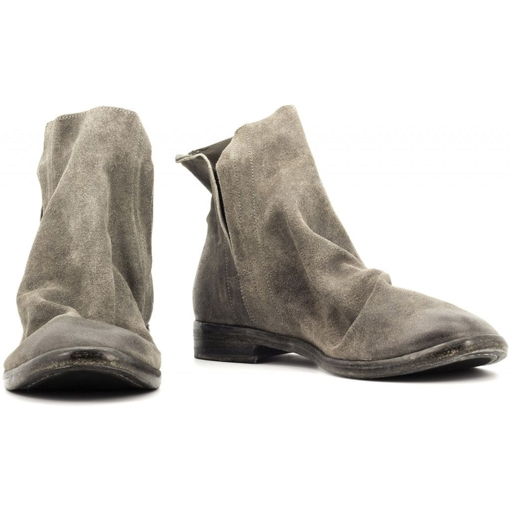 the last conspiracy EUNICE waxed suede Chelsea Boot 052 Dark Grey