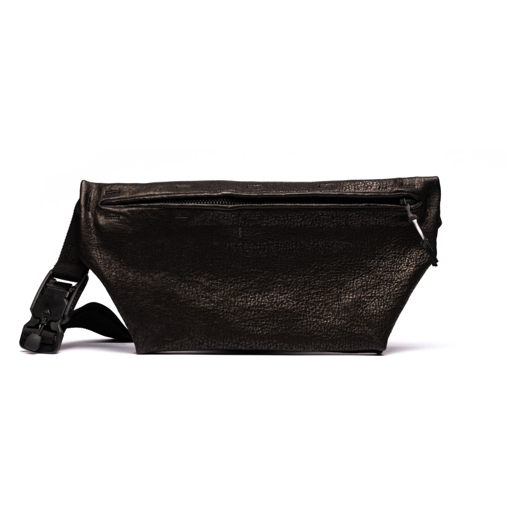 Accessories FANNY PACK MEDIUM waxed bonded Fanny pack 001 Black