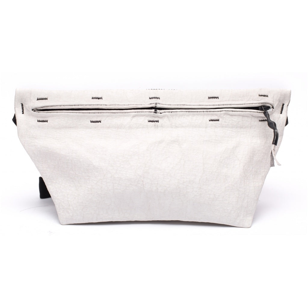 Accessories FANNY PACK MEDIUM waxed bonded Fanny pack 036 White