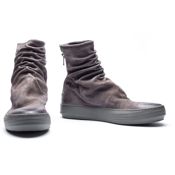 the last conspiracy FINN waxed suede High Top 060 Stone