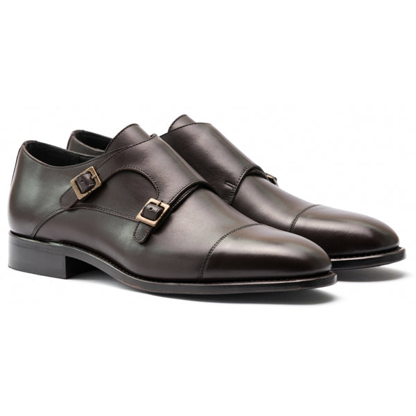 TLC Business FOX double monk leather CC Business 287 Choco