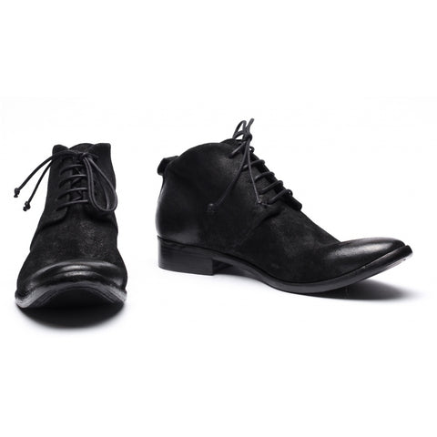 the last conspiracy GAGE waxed suede Laced Boot 001 Black