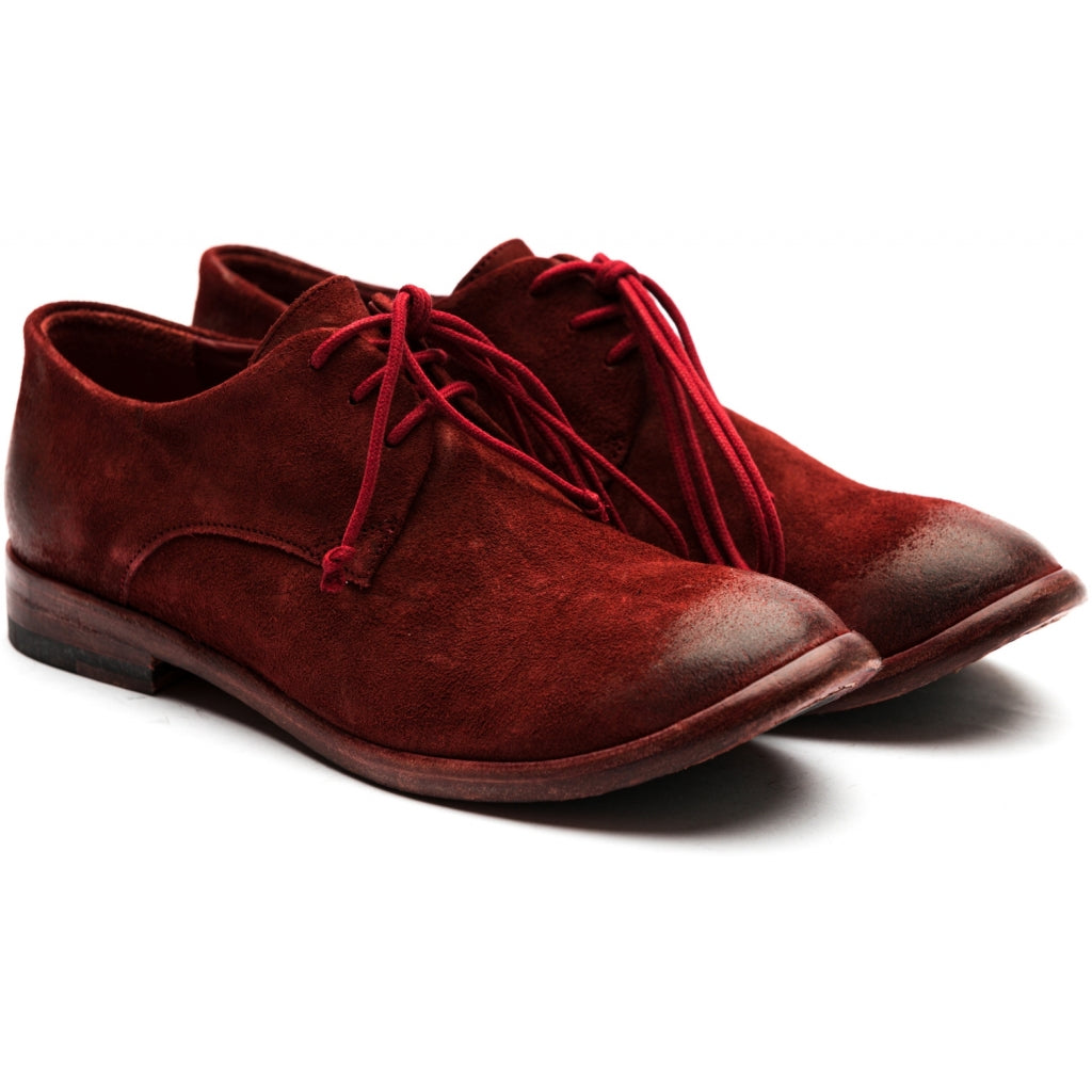 the last conspiracy GERTRUDES waxed suede Laced Shoe 048 Oxblood