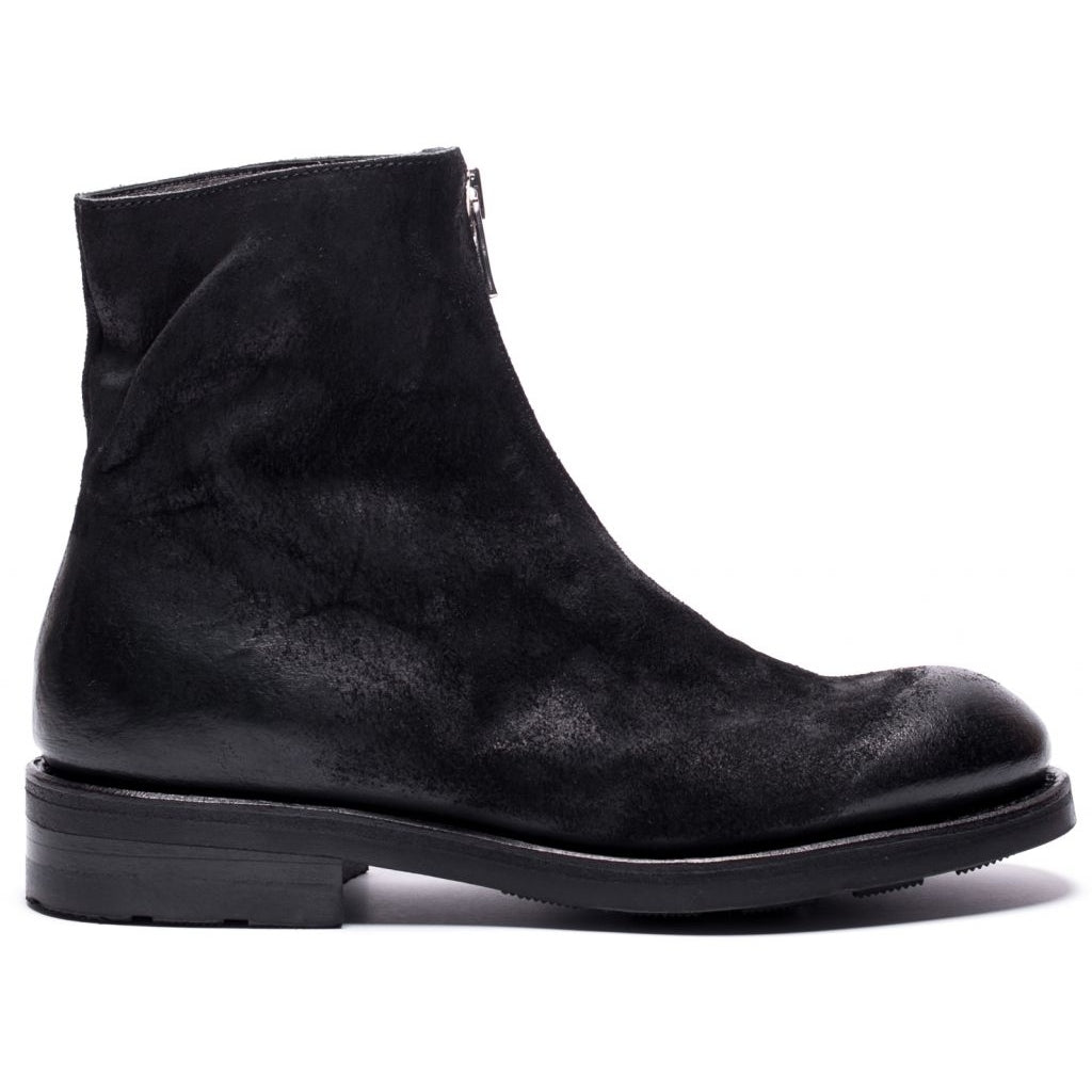 the last conspiracy GNA waxed suede Low Zip Boot 001 Black