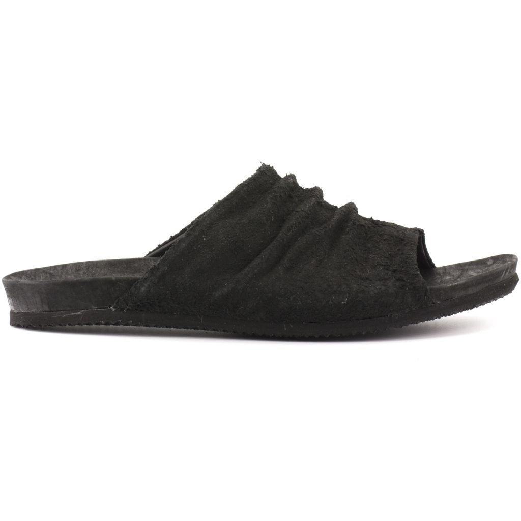 the last conspiracy GUSTAVO long haired suede Sandal 001 Black