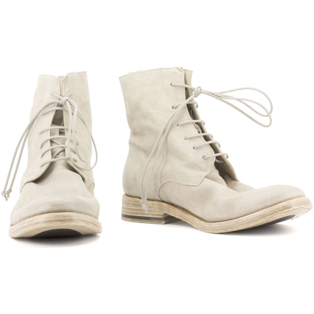 the last conspiracy JADEN waxed suede Laced Boot 002 Grey