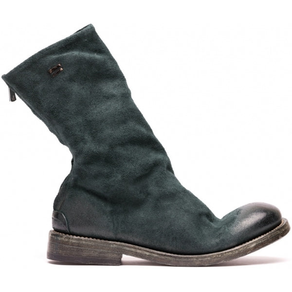the last conspiracy KAJSA waxed suede leather sole Uncontructed 054 Bottle green