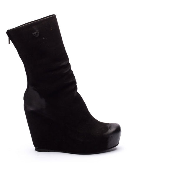 the last conspiracy KASA suede Wedge 001 Black