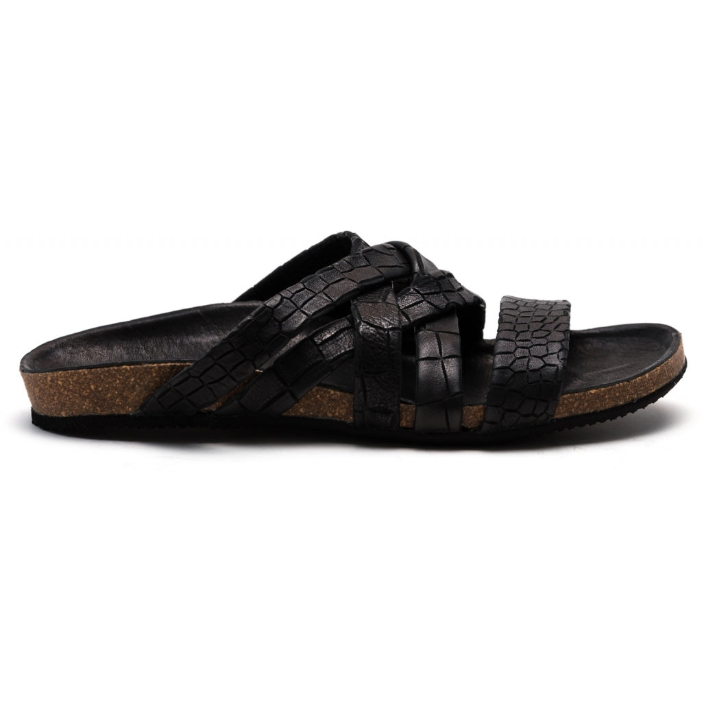 the last conspiracy KATE croco Sandal 001 Black