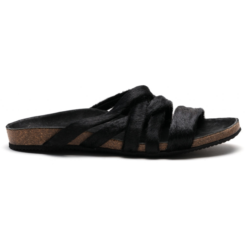 the last conspiracy KATE pony Sandal 001 Black