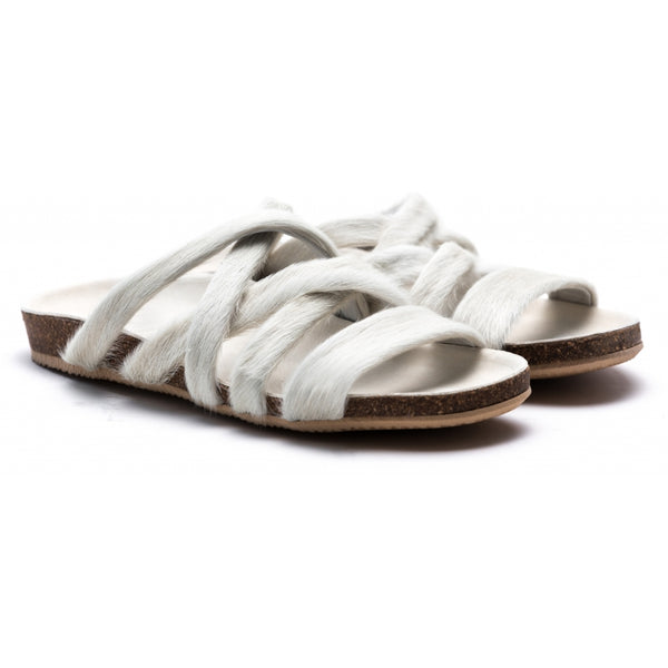 the last conspiracy KATE pony Sandal 036 White