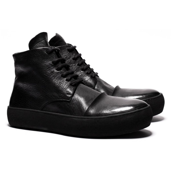 the last conspiracy LAINE re waxed Laced Boot 001 Black