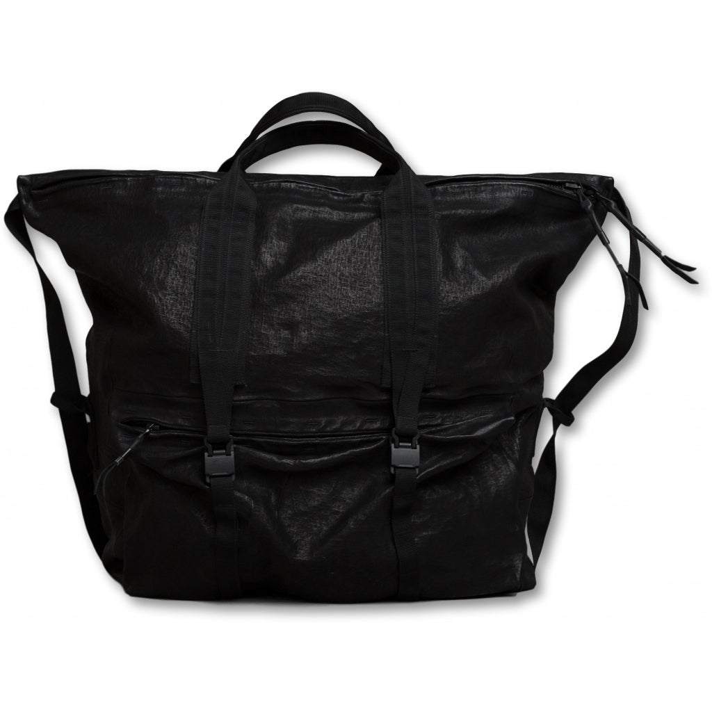 Accessories LARGE TOTE waxed bonded Shoulder Bag 001 Black