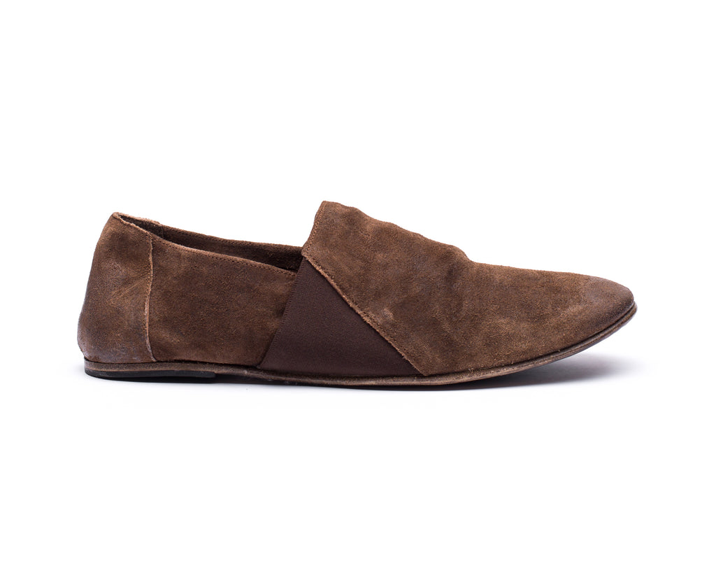 the last conspiracy LAUF waxed suede Espadril 010 Tobacco