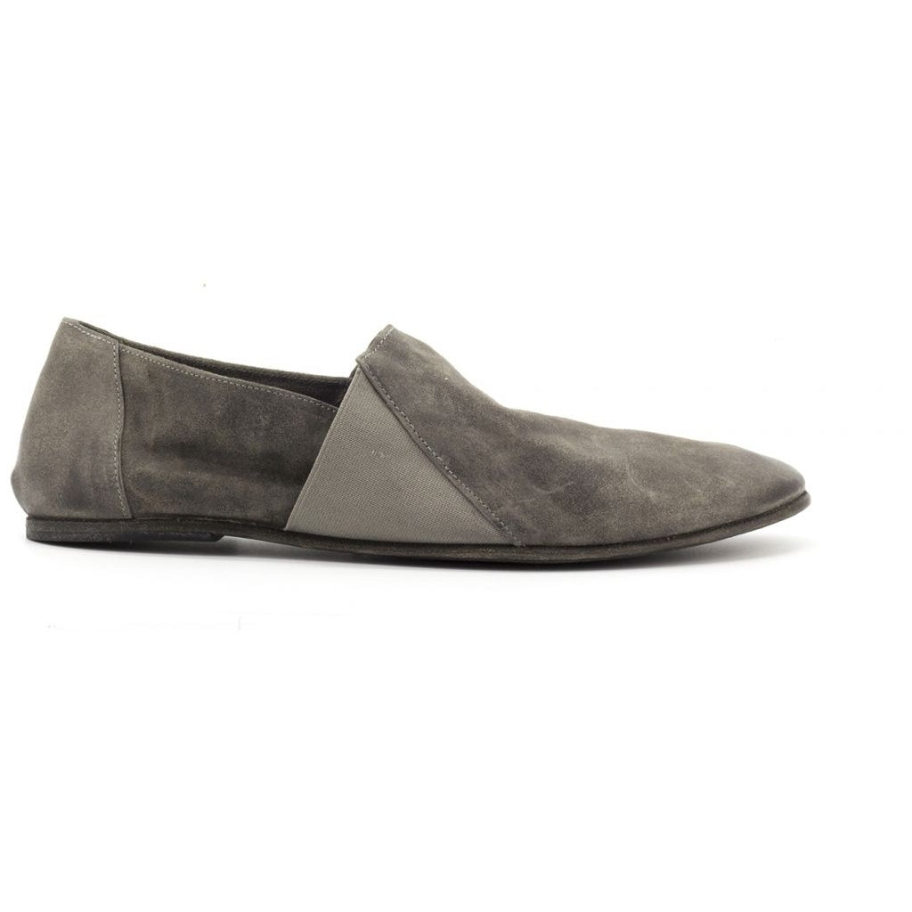 the last conspiracy LAUF waxed suede Espadril 052 Dark Grey