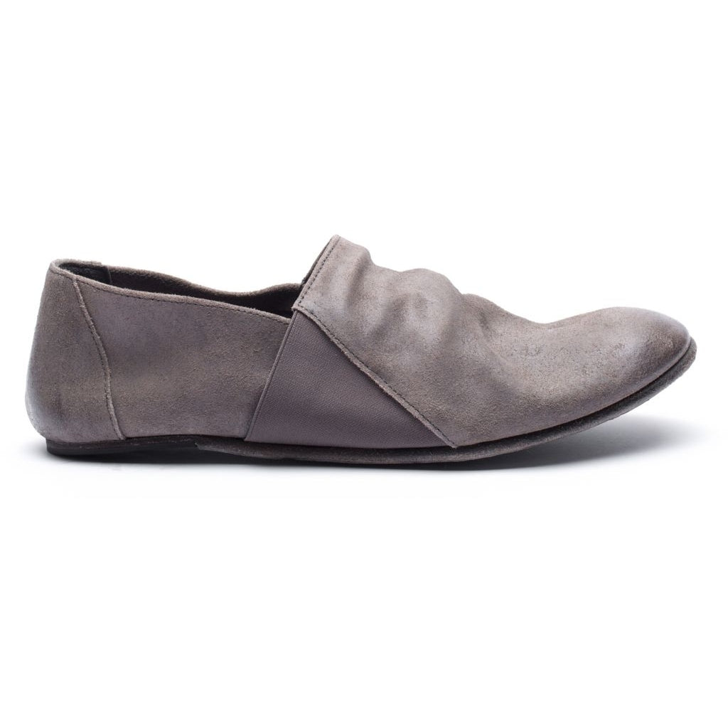the last conspiracy LAUF waxed suede Loafer 068 Dark Grey *new*
