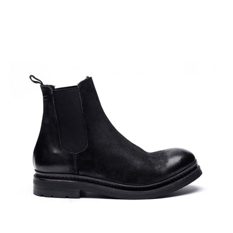 the last conspiracy LEXIE waxed suede teddy Chelsea Boot 001 Black