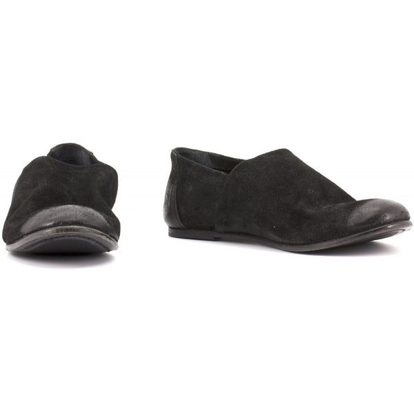 the last conspiracy LINNET waxed suede Loafer 001 Black
