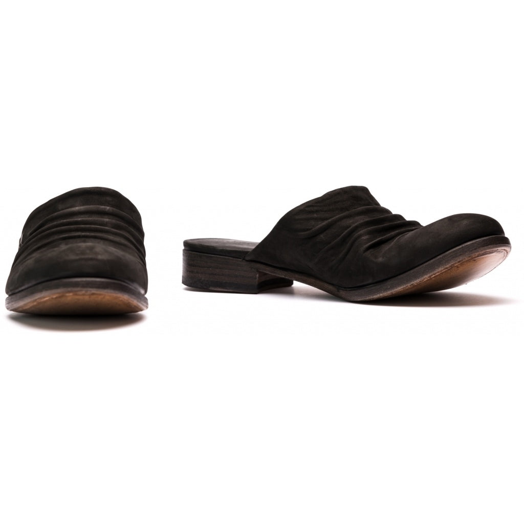 the last conspiracy LOREN waxed suede Slipper 001 Black
