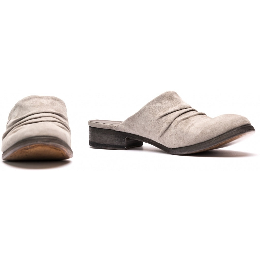 the last conspiracy LOREN waxed suede Slipper 086 Light Grey