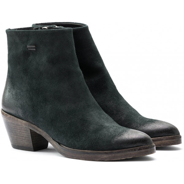 the last conspiracy MAE waxed suede Zip Boot 054 Bottle green