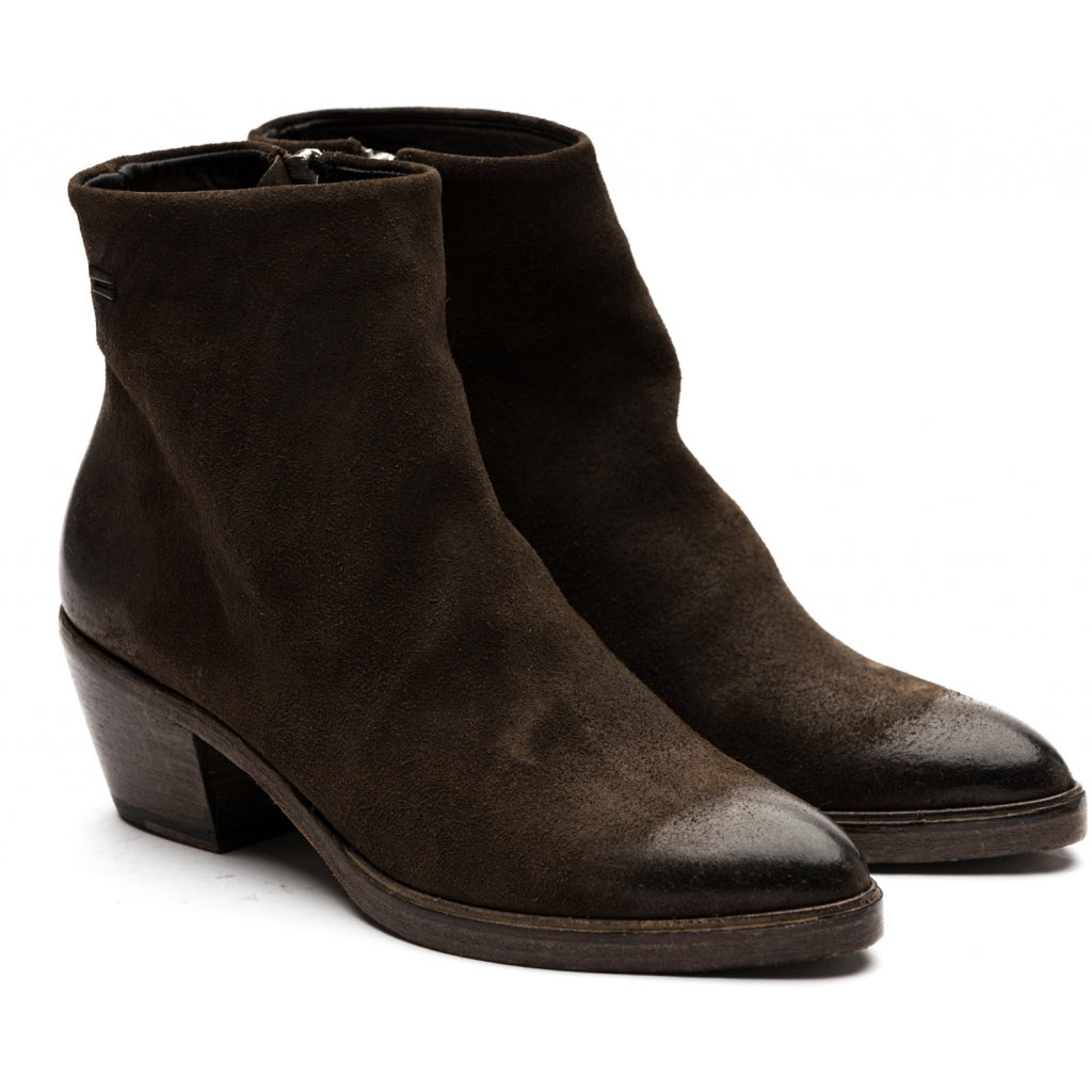 the last conspiracy MAE waxed suede Zip Boot 073 Military