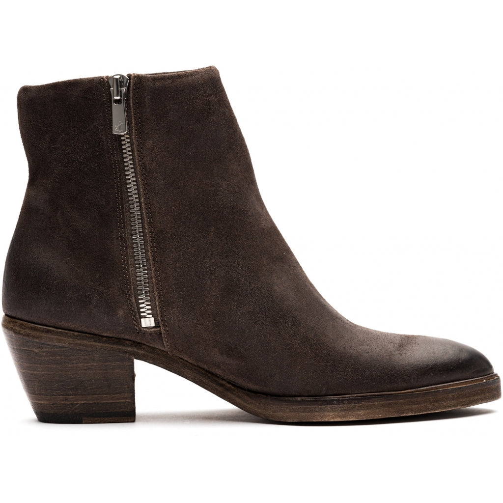 the last conspiracy MAE waxed suede Zip Boot 074 Asphalt