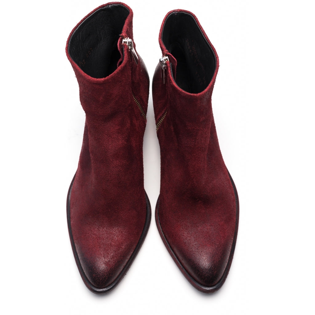 the last conspiracy MAE waxed suede Zip Boot 048 Oxblood